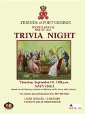 War of 1812 Trivia Night event poster